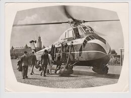 Vintage Rppc Sabena Belgian World Airlines Sikorsky S-58 Helicopter @ Rotterdam Heliport Katshoek - 1919-1938: Entre Guerres