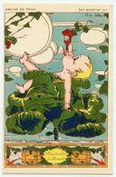 WWI.14-18.graine De Poilu.son Premier Cri : Plus De Lolo,du Pinard.illustrateur B. De Selles.fantaisie Aquarellée - Patriotic