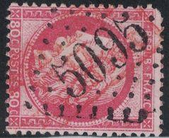 EMPIRE - N°57 - OBLITERATION LOSANGE - GC5095 - SALONIQUE - MACEDOINE - GRIFFE ROUGE PAQUEBOT DE LA MEDITERRANEE - MANQU - 1849-1876: Periodo Classico