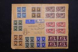 MAROC - Enveloppe En Recommandé De Mazagan Pour La France En 1937, Affranchissement Recto / Verso Plaisant - L 68338 - Morocco Agencies / Tangier (...-1958)