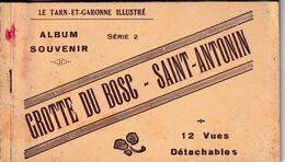 Carnet  DE 12 Vues Sur La GROTTE DU BOSC - SAINT ANTONIN - Saint Antonin Noble Val