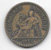 *france 2 Francs 1924 Open 4  Km 877 Vf - France