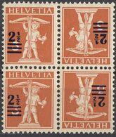 HELVETIA - SUISSE - SVIZZERA - 1920 - Tête-bêche, Coppia Nuova MNH Di 179a, Uniti Fra Loro, Come Da Immagine. - Tete Beche