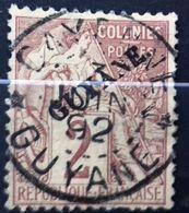 Guyane Timbre Oblitéré, Numéro Yvert Et Tellier 17, Cote 42,00 Euros. - A.E.F. (1936-1958)