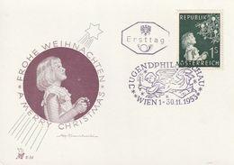 """Oesterreich / 1953 / Mi. 994 """"Weihnachten"""" FDC (Karte) (DB25) - FDC"""