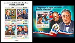 GUINEA 2020 - F.D. Roosevelt, Arrows. M/S + S/S. Official Issue [GU200123] - Boogschieten