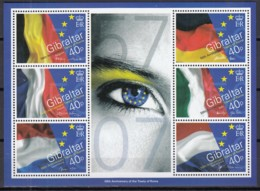 GIBRALTAR Block 77, Postfrisch **, 50 Jahre Römische Verträge, 2007 - Gibraltar