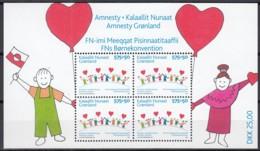 GRÖNLAND Block 36, Postfrisch **, 15 Jahre Amnesty Grönland, 2007 - Blocks & Sheetlets