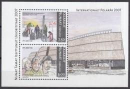 GRÖNLAND Block 37, Postfrisch **, Internationales Polarjahr, 2007 - Blocks & Kleinbögen