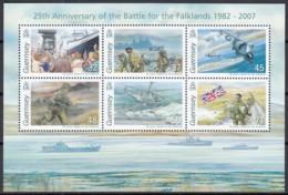 GUERNSEY  Block 44, Postfrisch **, 25. Jahrestag Des Falklandkrieges, 2007 - Guernsey