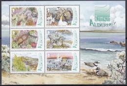 GUERNSEY ALDERNEY  Block 19, Postfrisch **, Aufnahme Von Feuchtgebieten Auf Alderney In Die Ramsar-Konvention, 2007 - Alderney