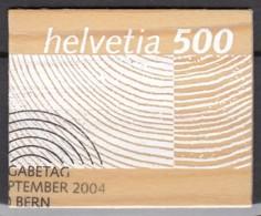 SCHWEIZ  1889, Gestempelt, Rohstoff Holz 2004 - Used Stamps