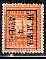 BELGIQUE  1681 // YVERT 108  TYPOS 14 // 1912-13 - Vorfrankiert
