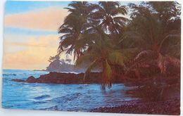 C. P. A. : TAHITI : Crépuscule Sur La Pointe D'OROFARA, Timbre En 1969 - Tahiti