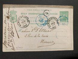 Entier Postaux Nr 12 - Partie Demande. Obl. Tumba Poste Via Boma 24/11/97 Vers Namur Parvenu Sans Formulaire Réponse [S] - Stamped Stationery