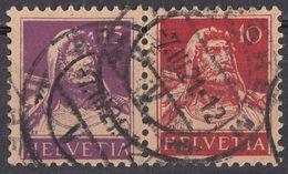 HELVETIA - SUISSE - SVIZZERA - 1914/1918 - Yvert 138 E 141 Usati, Uniti Fra Loro, Come Da Immagine. - Suiza