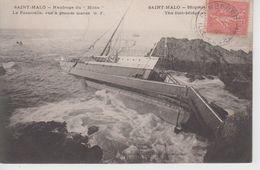 """CPA Saint-Malo - Naufrage Du """"Hilda - La Passerelle Vue à Grande Marée (légende Bilingue) Attention Cliché Peu Fréquent - Saint Malo"""