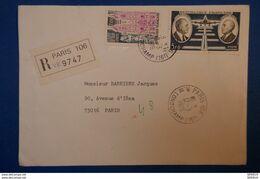 148 FRANCE LETTRE 1976 PARIS RUE IENA POSTE AERIENNE EN RECOMMANDé - France