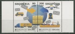 Albanien 2013 Europa CEPT Postfahrzeuge 3427/28 ZD Postfrisch - Albania