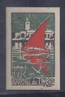 Vignette  Journee Du Timbre 1956 Sfax Aviation - Filatelistische Tentoonstellingen