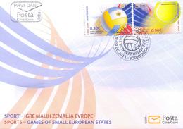 2011 FDC, Sports, Small States Games, Montenegro, MNH - Montenegro
