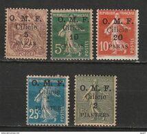 Cilicie N° 89, 90, 91, 92, 93 * - Cilicien (1919-1921)