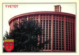 76 - Yvetot - L'église Saint-Pierre - Blasons - Flamme Postale De Yvetot - CPM - Voir Scans Recto-Verso - Yvetot
