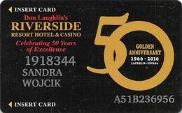 Riverside Casino - Laughlin, NV USA - 50th Anniv Slot Card - Casinokarten
