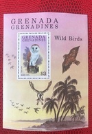 Grenada Grenadines 1980 1 Bloc Neuf ** MNH Owl Birds Wildlife Vogels Oiseaux Aves - Aquile & Rapaci Diurni