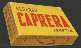 ITALY VENEZIA Hotel CAPRERA Luggage Label -13 X 8 Cm (see Sales Conditions) - Hotel Labels