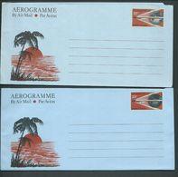 Christmas Island 1976 - 1978 25c Aerogramme X 2 Both Printings Fine Unused - Christmaseiland