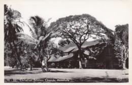 Honolulu Oahu Hawaii, Christian Science Church, C1940s/50s Vintage KH Real Photo #H-91 Postcard - Honolulu