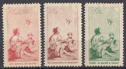"""HELVETIA - SUISSE - SVIZZERA - 1912 - Lotto Di 3 Erinnofili """"Sole E Salute"""", Nuovi MH, Come Da Immagine. - Suiza"""