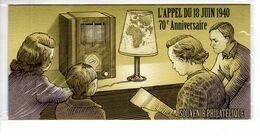 """"""" 70 ANS DE L'APPEL DU 18 JUIN 1940 """" Sur Bloc Souvenir De 2010 (sous Blister). N° YT BS 48 Parfait état - De Gaulle (Generale)"""