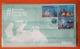 """Indonesia 2020, FDC COVID-19 """"BERSATU MELAWAN COVID-19"""" MNH. - Altri"""