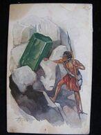 Painting Apsit Series Precious Stones Indian With A Spear Post Office Riga Savino Ivanovo Censorship - Indianer
