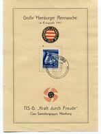 Deutsches Reich - KdF Propagandablatt Rennwoche 1941 - Covers & Documents