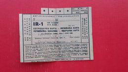 FNR JUGOSLAVIJA-POTROSNISKA NAKAZNICA.Tovarna Upognjenega Pohistva Duplica Pri Kamniku(Kamnik) - Slovenië