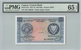 Cyprus 1973 P-41b PMG Gem UNC 65 EPQ 250 Mils - Cyprus