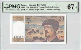 France 1986 P-151a PMG Superb Gem UNC 67 EPQ 20 Francs - 1962-1997 ''Francs''
