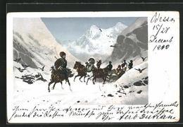 AK Troika Auf Verschneiten Wegen, Russische Typen - Ethniques & Cultures