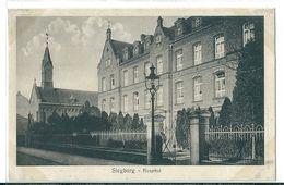2  CPA De   SIEGBURG  (  Allemagne  )  Gymnasium U. Kath. Kirche . Et  Hospital . - Siegburg