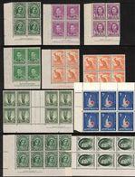 AUSTRALIA, PRE DECIMAL SELECTION OF BLOCKS/IMPRINT BLOCKS MNH - Collections