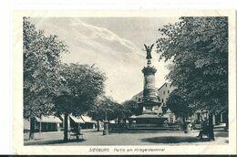 2  CPA De   SIEGBURG  (  Allemagne  )  Partie  Am  Kriegerdenkmal  Et  Partie  An  Der  Sleg . - Siegburg