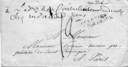 """""""COLONIES Par BORDEAUX"""" L.S.C.,arivée 31/12/26,cachets De Facteurs Au Dos. - 1801-1848: Vorläufer XIX"""
