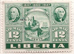 PIA  - LIBERIA : 1947 - Francobolli Di Posta Aerea - Centenario Dei Francobolli Degli Stati Uniti - (Yv P.A. 50-52 ) - Liberia