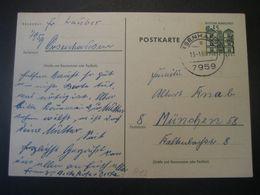 Deutschland BRD Ganzsache 1968- Postkarte Aus Orsenhausen Nach München - Cartoline - Usati