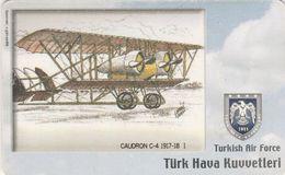 Turkey, TR-C-069, Turkish Air Force, Airplane, Caudron C-4 1917-18, 2 Scans.   Please Read - Türkei