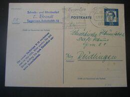Deutschland BRD Ganzsache 1964- Geschäfts-Postkarte Aus Tegernsee An Die Fa. Safe Reutlingen - Cartoline - Usati