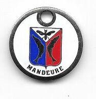 Jeton De Caddie  Ville  MANDEURE  ( 25 )  Avec  Animaux  Papillon  Et  Poissons - Jetons De Caddies